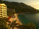 La Jolla De Mismaloya Hotel in Mismaloya Bay at Sunset  Puerto Vallarta  Mexico