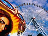 Ferris Wheel and Fairground Ride  Texas State Fair  Fair Park  Dallas  United States of America