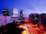 Downtown Skyline at Dusk  Tucson  United States of America