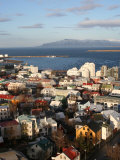 City Centre with Harbour in Background  Reykjavik  Iceland