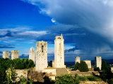 Towers of San Gimignano From Rocca (Town Fortress)  San Gimignano  Italy