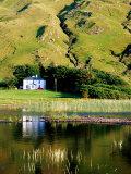 Benbaun Mountain and House Beside Kylemore Lake  Connemara National Park  Connemara  Ireland