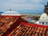 Terracotta Rooftop in Zona Centro  Templo De Guadelupe  Bay of Banderas  Puerto Vallarta  Mexico