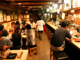 Customers Dining at Oden Restaurant  Shinjuku  Tokyo  Japan