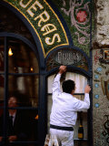 Old Pastry Shop Facade on Las Ramblas  Barcelona  Spain