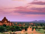 Pink Sky From Swesandaw Paya  Bagan  Myanmar (Burma)