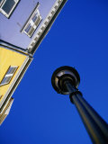 Street Lamp and Houses at Nyhavn  Copenhagen  Denmark