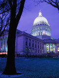 State Capitol Building at Dusk  Madison  United States of America