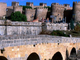 Alcazar and Stone Bridges  Avila  Spain
