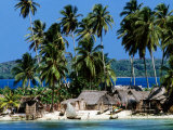 Tropical Island Village on Beach  Panama