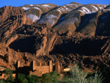 Kasbah of Ait Arbi with Mountains in the Background  Dades Gorge  Morocco