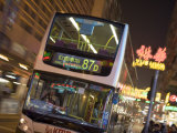 Double-Decker Bus on Nathan Road  Tsim Sha Tsui  Kowloon  China