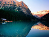 Mt Victoria and Lake Louise at Sunrise in Summer  Banff National Park  Canada