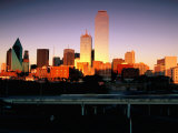 City Skyline at Sunset  Dallas  United States of America