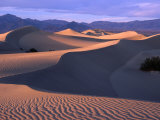 Sand Ripples at Mesquite Sand Dunes  Death Valley National Park  USA