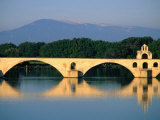 Pont Saint Benezet (Le Pont D' Avignon) Across the Rhone River  Avignon  France
