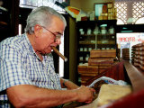 Cigar Roller at Work  Tampa  USA