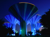 Floodlit Water Towers on Sixth Ring Road  Al Farwaniyah  Kuwait
