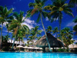 Hotel Pool and Palm Trees  Fiji