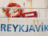 Boat Detail in Harbour  Reykjavik  Iceland