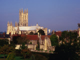 Exterior of Canterbury Cathedral with Other City Buildings in Foreground  Canterbury  Uk