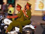 Policemen on Motorbike  Ho Chi Minh City  Vietnam