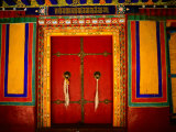 Decorated Doorways  Norbulingka (Dalai Lama&#39;s Summer Palace)  Lhasa  China