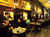 Carlos Gardel & Friends  Model Statues at Gran Cafe Tortoni  Argentina