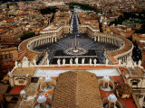 Piazza San Pietro From St Peter Cathedral's Dome  Rome  Italy