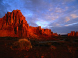 Courthouse Towers at Dusk  Arches National Park  USA