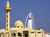 Mosque Beside Burj Al Arab Hotel  Dubai  United Arab Emirates