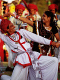 Rajastani Dancers at Annual Elephant Festival  Jaipur  India