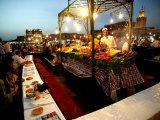 Food Stall on Dejemma El-Fna  Marrakesh  Morocco
