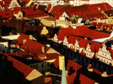 Overhead of Historic Quarter  Munich  Germany