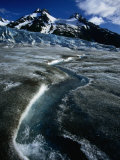 Walker Galcier in the World Heritage Site Declared Glacier Bay National Park and Preserve  USA