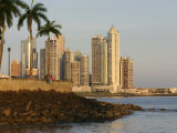 Skyline of Highrise Apartments in Punta Paitilla  Panama City  Panama