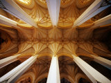 Vault Ceiling in 15th-Century Frauenkirche (Church of Our Lady)  Munich  Germany