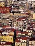 Cityscape from Castel Sant'Elmo  Naples  Italy