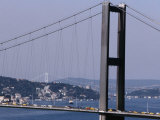 Bridge Over Bosphorus River  Istanbul  Turkey