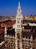 Overhead of Neo-Gothic Neues Rathaus (New Town Hall)  Munich  Germany