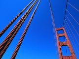 Detail of Golden Gate Bridge  San Francisco  USA