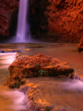 Mooney Falls in the Havasupai Indian Reservation  Grand Canyon National Park  Arizona
