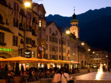 People Relaxing Along Maria Theresien Strasse  Innsbruck  Austria