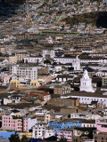 Aerial View of the Old Quarter  Quito  Ecuador