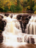 Upper Falls in Motion  North Shore of Lake Superior  Gooseberry Falls State Park  USA