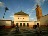 Courtyard of Sidi Bel Abbes Mosque  Marrakesh  Morocco