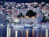 Medieval Revelin Fort with Marina in Foreground  Dubrovnik  Croatia