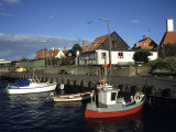 Docked Fishing Boats  Gudhjem  Denmark