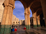 People Visiting Hassan Ii Mosque  Casablanca  Morocco