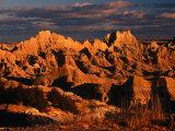 Cliff Shelf at Dusk  Badlands National Park  USA